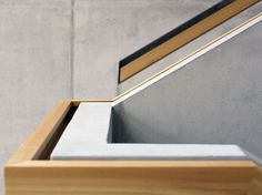 Timber plasterboard handrail detail for staircase.