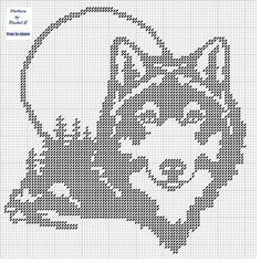 wolves for plastic canvas Cross Stitch Charts, Cross Stitch Designs, Cross Stitch Patterns, Stitching Patterns, Plastic Canvas Crafts, Plastic Canvas Patterns, Cross Stitching, Cross Stitch Embroidery, Pixel Art
