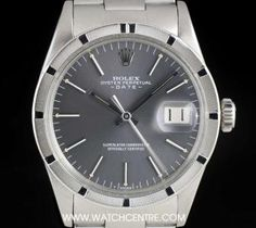 Rolex Stainless Steel Grey Dial Oyster Perpetual Date Vintage Gents B&P 1501 Rolex Oyster Perpetual Date, Used Rolex, Rolex Date, Patek Philippe, Audemars Piguet, Fashion Watches, Oysters, Rolex Watches, Dating