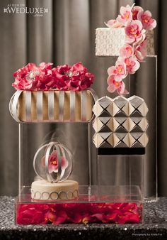 Mr. and Mrs. Smith Styled Wedding Photo shoot - FABULOUS CAKE - WedLuxe Magazine