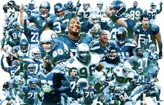 The top 40 Seahawks of all time, as selected by Seattle Times staff on the team's 40th anniversary. (Illustration by Rich Boudet / The Seattle Times)
