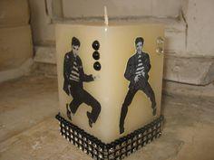 Elvis Presley candle by Miriamscreativity on Etsy, $15.00