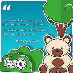 Meer Lieve wijsheden? Like mijn pagina en volg me op Instagram en Twitter! #lievelieverd #wijsheden #quote #knuffel #beer