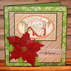 Lindas papercrafting: julekort med ark fra Graphic 45