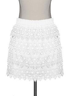 Tiered Crochet Skirt