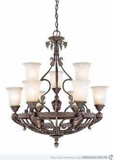 20 Wrought Iron Chandeliers | Home Design Lover #wroughtironchandelier #wroughtironchandeliers