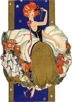 Vintage Posters, Vintage Art, Vintage Ladies, Art Nouveau, Art Deco Illustration, Girl Illustrations, Art Deco Design, Art Deco Fashion, Painting & Drawing