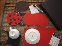 homemade ladybug invitations | Simplicity Street: Bug Party Invitations