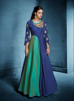 Ready made Designer Floor Touch Gown - Indian Embroidered Fashion Wear Dress  -Wedding Functions Wear Party Wear Festive Wear-Bollywood Style f96cde4a7