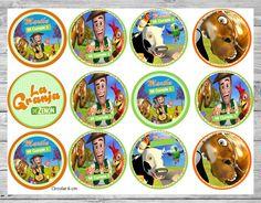 Farm Animal Birthday, Farm Animals, Minions, Smurfs, Decorative Plates, Diy Crafts, Party, Editable, Mickey Mouse