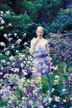 ❀ Flower Maiden Fantasy ❀ beautiful art & fashion photography of women and flowers - Harpers Bazaar UK - Katrin Thormann by Erik Madigan Heck