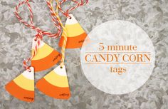 5 Minute Candy Corn Tags
