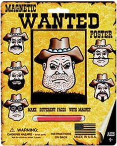"""Wanted Poster - Magnetic Personalities 7""""X8.75"""""""