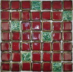 Hand Craft red porcelain mosaic tiles backsplash kitchen wall tile PCMT079 green ceramic mosaic bathroom mosaic tiles [PCMT079] - $24.89 : MyBuildingShop.com