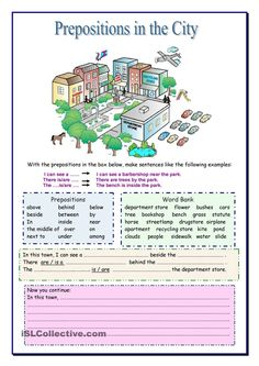 Prepositions in the City