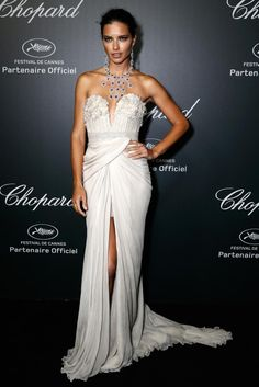 Adriana Lima in Elie Saab gown and stunning Chopard jewelry | Cannes Film Festival 2014: Red Carpet | Harper's Bazaar
