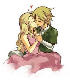Zelda & Link kiss <3