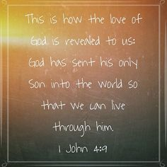How can you know Gods love? He gave us #Jesus, the only person to ever live #life fully