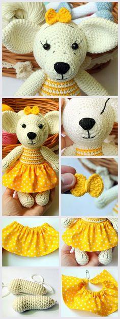 Crochet Toy Dog PDF Tutorial #amigurumi #amigurumipattern #amigurumipdf #amigurumitutorial #crochettoys #crochettutorial