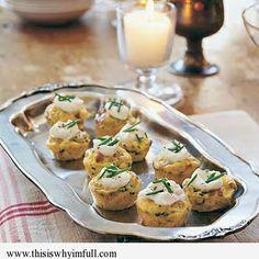 Mini Bacon and Potato Frittatas - http://www.thisiswhyimfull.com/dinner/mini-bacon-and-potato-frittatas