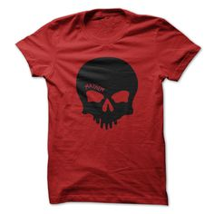 SKULL - MAYHEM TEEMAYHEM - SKULL TEE..  Mayhem is used as the skulls raised brow.Mayhem, Skull, Biker, Driver, Trucker, Car, Automotive, Bad ass.