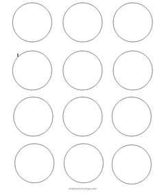 Small 2 Inch Circle Shapes To Print Out Plus Other Sizes Of Circles Medium Large Templates