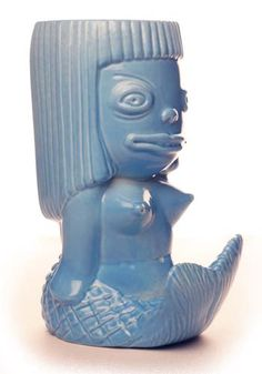 Tambuku would definitely have tiki mugs like this (via Munktiki—go buy their stuff! Tiki Art, Tiki Tiki, Tropical Mugs, Mermaid Mugs, Tiki Lounge, Tarot, Black Mermaid, Tiki Room, Hula Girl