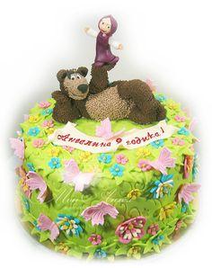 "Cake ""Masha and Bear"". Торт ""Маша и Медведь""."