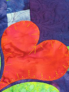 EKG free-hand quilt stitch- this would be my kind of quilting- no pattern necessary!