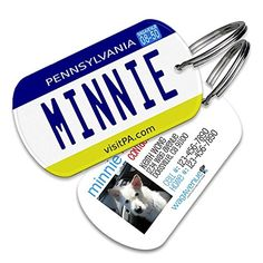 Pennsylvania License Plate Pet Tag  Dog Tags for Dogs Dog Id Tags Custom Pet Tags Dog Name Tags Personalized Pet Id Tags Cat Id Tags *** See this great product.