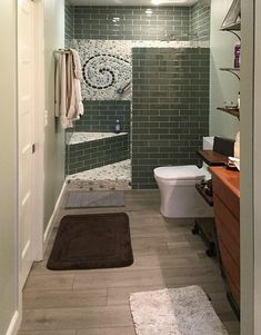 Sea Green and White Pebble Tile Shower Feature - Pebble Tile Shop Spa Like Bathroom, Bathroom Ideas, Pebble Tile Shower, Shower Pics, White Pebbles, Shower Floor, Stone Tiles, Bathroom Flooring, Backsplash