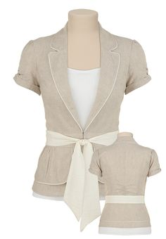 I really love this blazer. paired with a cute laced black cami and a dark wash jean....amazing.