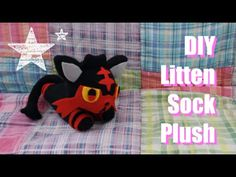 ❤ DIY Litten Sock Plush! How to make your own adorable Pokemon sock plush! ❤ - YouTube