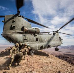Chinook with a skilled pilot
