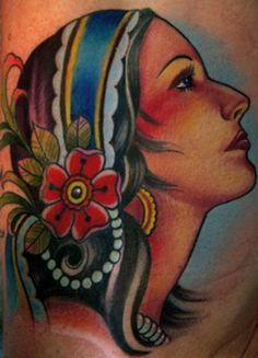 new skool gypsy tattoo | Paradise Tattoo Gathering : Tattoos : Traditional Old School : gypsy
