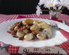 Gnocchis à la forestière, gratinés crème et mozzarella