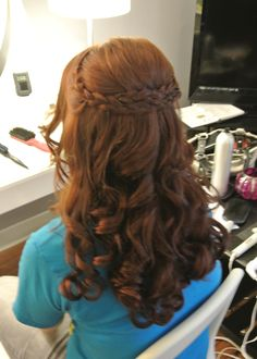 Formal hair, wedding hair, half-up, bridesmaid hair, prom hair. Hair by Christy: Simply Captivating On-Site Beauty Services, PGH, PA Follow me on FB!