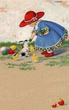 Pauli Ebner (1873-1949) — Old Easter Post Cards (600x965)