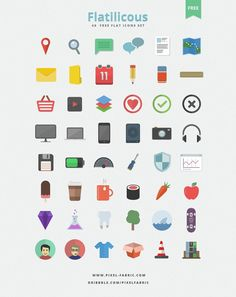 Flatilicious - 48 #Free #Flat #Icons,  #Free, #Graphic #Design, #Icon, #PSD, #Resource, #Vector
