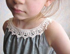 Robe à col de dentelle au crochet, Enfant, Vêtement fille - PrimaCréa