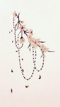 flower Tattoo Cherry blossom tattoo edit - # cherry blossom A Platinum Cufflink Set Ca Flower Tattoo Back, Small Flower Tattoos, Back Tattoo, Small Tattoos, Flower Ankle Tattoos, Side Boob Tattoo, Tattoo Time, Temp Tattoo, Tattoo Flowers