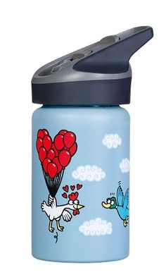 Childrens Official Licensed Blue Spiderman Mason Jar Bottle with Straw