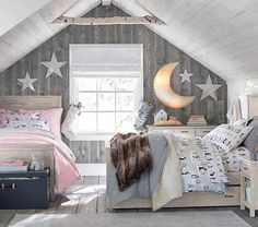 Via Pottery Barn Cool Kids Bedrooms, Kids Bedroom Sets, Small Room Bedroom, Bedroom Decor, Childrens Bedroom, Small Bedrooms, Bedroom Ideas, Kids Room, Pottery Barn Bedrooms