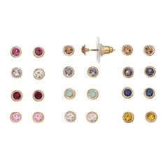 LC+Lauren+Conrad+Circle+Stud+Earring+Set