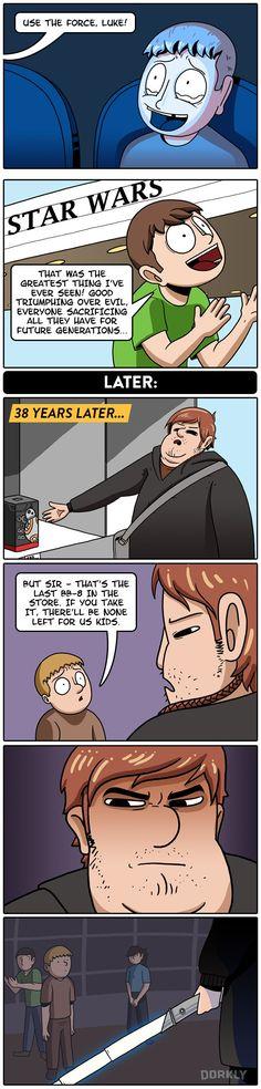 The Dark Side of Fandom #dorkly #comics #starwars
