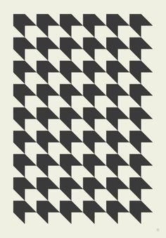 I chose this pattern as the graphics in the piece are simple but effective. The block repeat works well with the black and white colors used in this pattern.