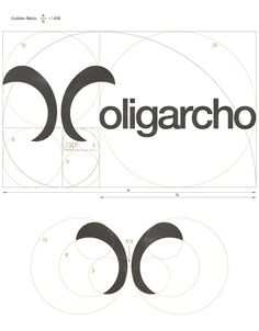 Golden ratio in logo design for oligarcho company by mikodesign