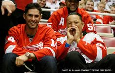 JD Martinez and Miggy at Red Wings playoff game 4/23/15
