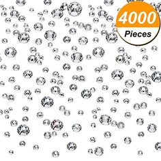 Boao 2000 Pieces Flatback Round Rhinestones Glass Gems with 6 Mixed Sizes - 3 mm) for Nail Art, Phone Decorations and DIY Crafts (Clear Color) Acrylic Nail Supplies, Decor Crafts, Diy Crafts, Wedding Nails For Bride, Button Crafts, Sewing Stores, Rhinestones, Sewing Crafts, Nail Art