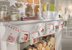 Ihr wollt jemandem in der Adventszeit täglich eine Freude bereiten? Mit Foto-Stickern und einem Geschenkband verwandelt ihr 24 Brottütchen schnell in einen wunderschönen, persönlichen Adventskalender.